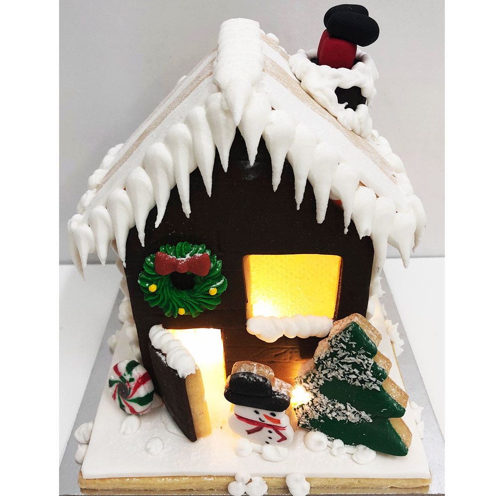 Light Up Gingerbread House (available ONLY in brown)