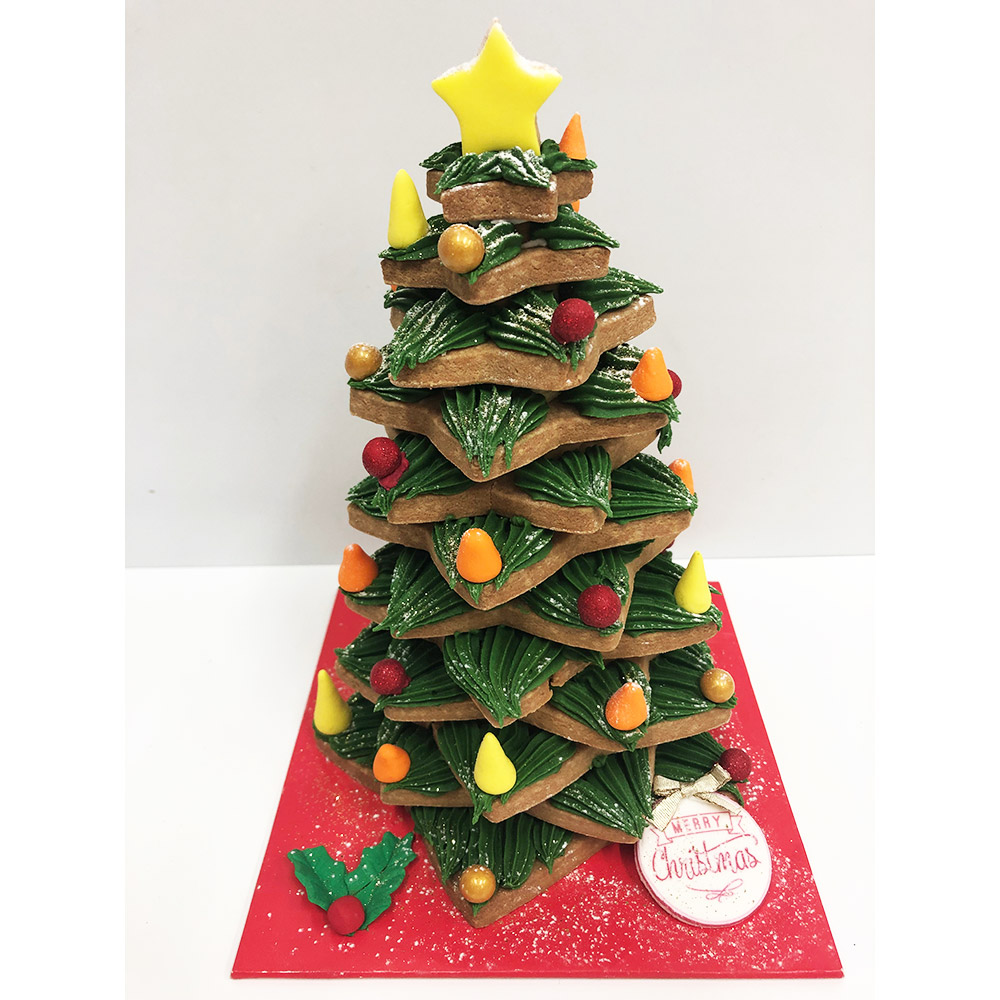 Piped Gingerbread Tree (only available in piping finish)